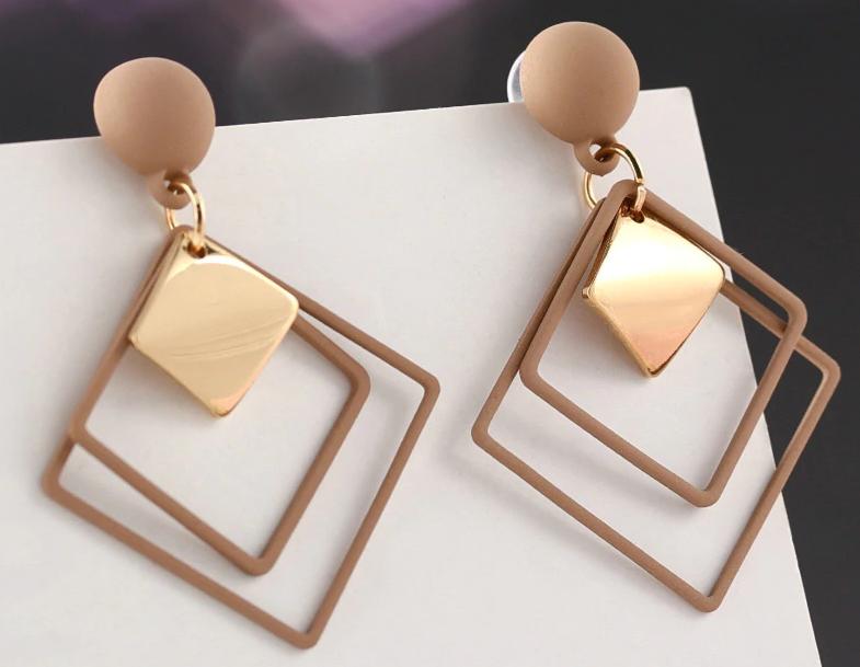 Fashion New Women's Acrylic Drop Earrings Hot Selling Long Dangling Earrings Gift For Women Party Wedding Jewelry Brincos 24