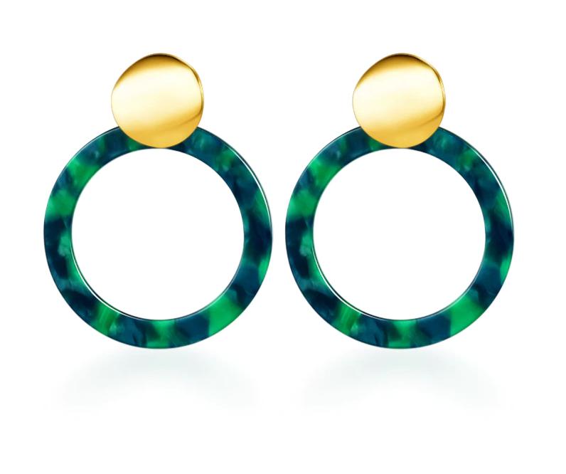 Vintage Korean Big Earrings for Women Female Fashion Gold Cubic zirconia Drop Dangle Earring Geometric earings Jewelry 2019 8