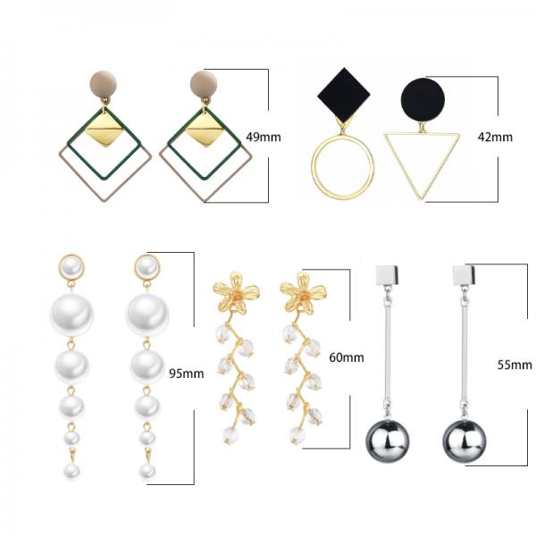 Fashion New Women's Acrylic Drop Earrings Hot Selling Long Dangling Earrings Gift For Women Party Wedding Jewelry Brincos 4