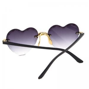 Women Rimless Sunglasses Fashion Heart-shaped Sun Glasses for Wome Vintage Cute 90s Gradient Shades Eyeglasses  UV400 6