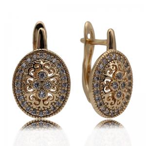 PATAYA New Micro Wax Inlay Hollow Drop Earrings Women Luxury Wedding Fashion Jewelry 585 Rose Gold Natural Zircon Flower Earring 5
