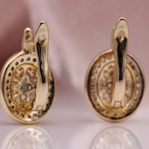 PATAYA New Micro Wax Inlay Hollow Drop Earrings Women Luxury Wedding Fashion Jewelry 585 Rose Gold Natural Zircon Flower Earring 3