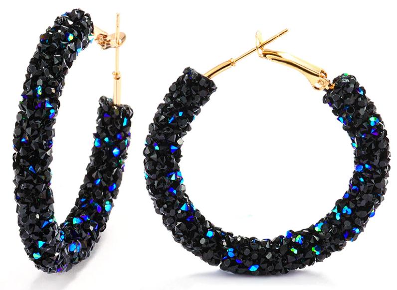 Vintage Korean Big Earrings for Women Female Fashion Gold Cubic zirconia Drop Dangle Earring Geometric earings Jewelry 2019 17