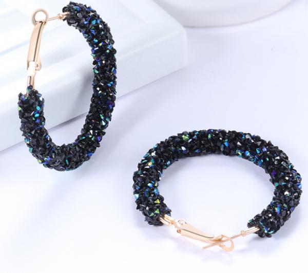 Vintage Korean Big Earrings for Women Female Fashion Gold Cubic zirconia Drop Dangle Earring Geometric earings Jewelry 2019 3
