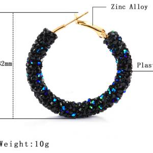 Vintage Korean Big Earrings for Women Female Fashion Gold Cubic zirconia Drop Dangle Earring Geometric earings Jewelry 2019 5