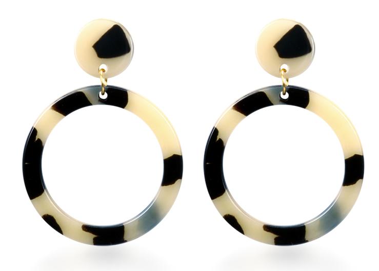 Vintage Korean Big Earrings for Women Female Fashion Gold Cubic zirconia Drop Dangle Earring Geometric earings Jewelry 2019 12