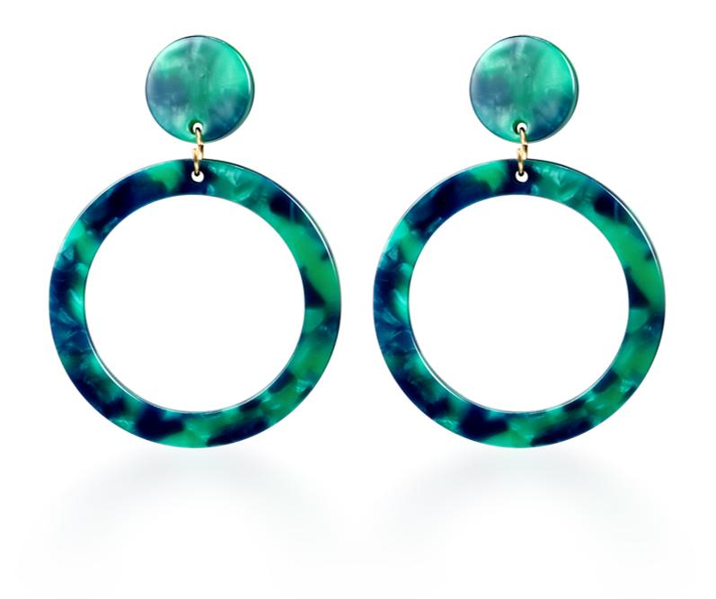 Vintage Korean Big Earrings for Women Female Fashion Gold Cubic zirconia Drop Dangle Earring Geometric earings Jewelry 2019 11
