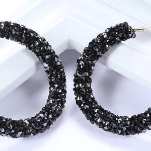 Vintage Korean Big Earrings for Women Female Fashion Gold Cubic zirconia Drop Dangle Earring Geometric earings Jewelry 2019 2