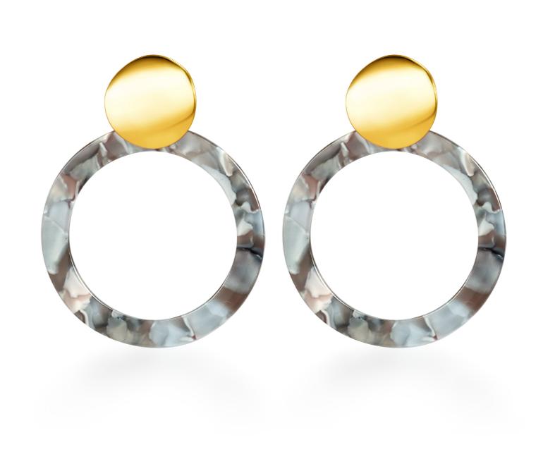 Vintage Korean Big Earrings for Women Female Fashion Gold Cubic zirconia Drop Dangle Earring Geometric earings Jewelry 2019 7