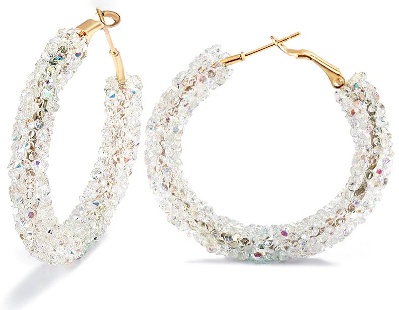 Vintage Korean Big Earrings for Women Female Fashion Gold Cubic zirconia Drop Dangle Earring Geometric earings Jewelry 2019 13