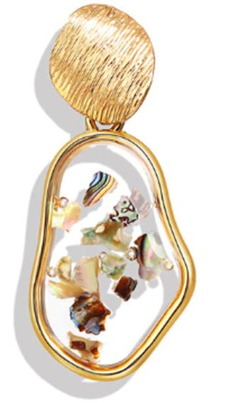 Vintage Earrings 2019 Geometric Shell Earrings For Women Girls BOHO Resin Drop Earrings Brincos Fashion Tortoise Jewelry 37