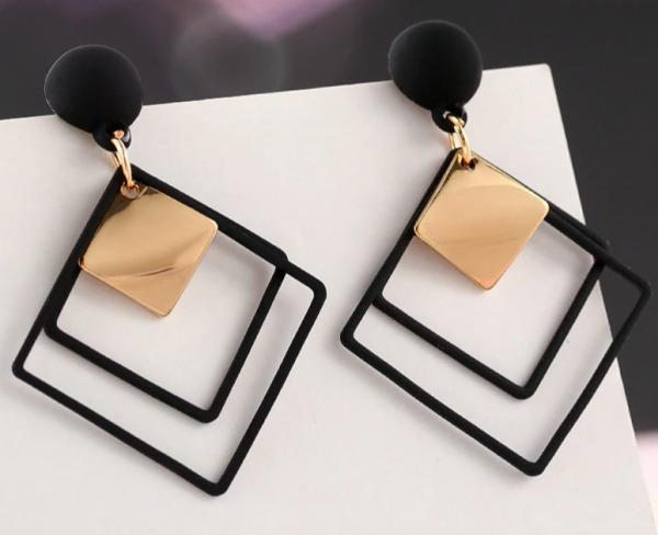 Fashion New Women's Acrylic Drop Earrings Hot Selling Long Dangling Earrings Gift For Women Party Wedding Jewelry Brincos 1