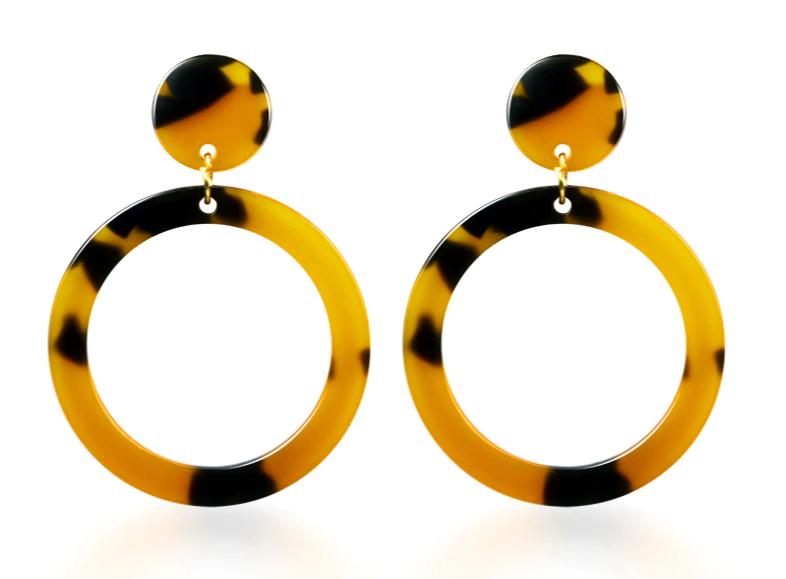 Vintage Korean Big Earrings for Women Female Fashion Gold Cubic zirconia Drop Dangle Earring Geometric earings Jewelry 2019 14