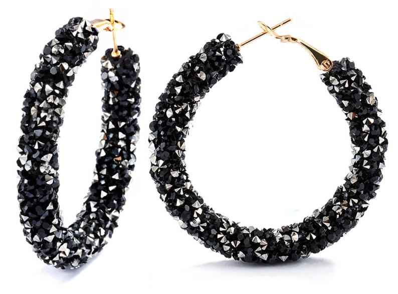 Vintage Korean Big Earrings for Women Female Fashion Gold Cubic zirconia Drop Dangle Earring Geometric earings Jewelry 2019 15