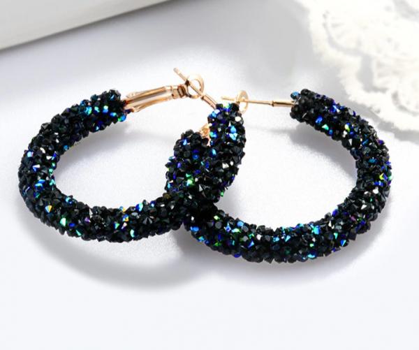 Vintage Korean Big Earrings for Women Female Fashion Gold Cubic zirconia Drop Dangle Earring Geometric earings Jewelry 2019 1