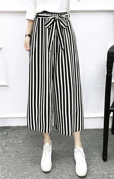 2020 Fashionable Wide Leg High Waist Pants 2