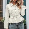 2020 Elegant Long Sleeve Casual High Waist Coat