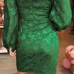 2020 Alluring V-Nexk Party Dress with Lantern Sleeve 4