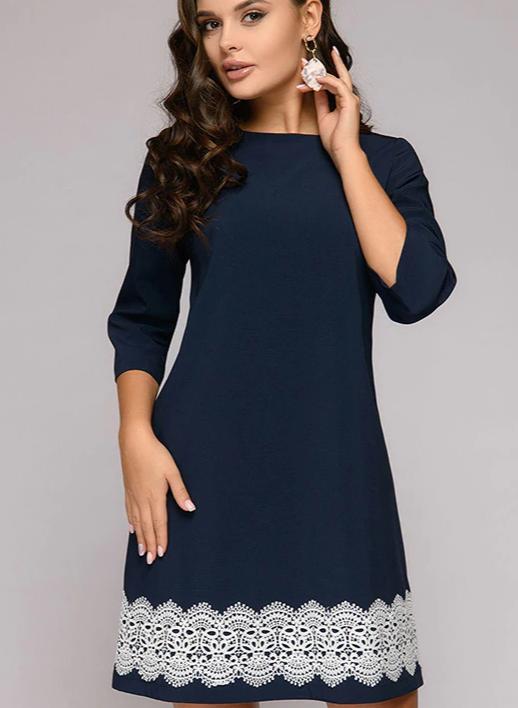 2020 Elegant Slim Lace Round Neck Dress